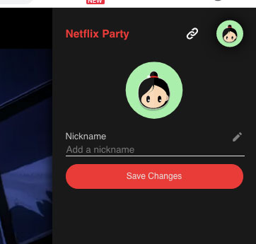cambiar avatar netflix party