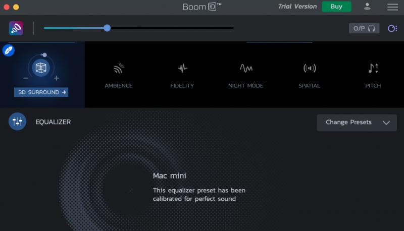 la calidad de audio BOOM 3D