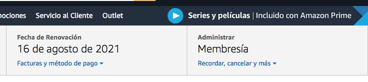 administrar membresía prime