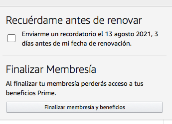 cancelar Amazon Prime
